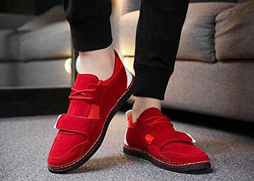 Uomini Casuale Appartamenti Scarpe Primavera Nuovo Traspirante Basso Leggero Scarpe Da Ginnastica All'aperto Gioventù Scarpe Rosso
