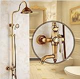YSRBath Moderne Badzimmer Waschraum Waschbecken Waschtischarmatur Messing Vintage Dusche Antike Dusche Einstellen Mischbatterie Bad Küchenspüle Armaturen Wasserhahn