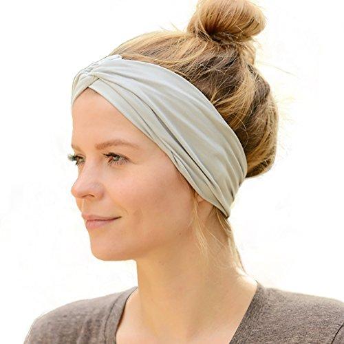 9bba8ce6303ae6 Casualbox Herren Japanisch elastisch Stirnband Headband Haar Band Zubehör  Sport Hellgrau