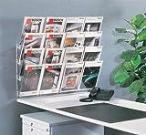 kerkmann da parete porta opuscoli multidock concept, DIN A4 un'altezza, 8 scomparti