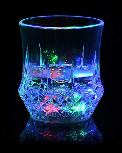 CaLeQi - Vaso luminoso con barra intermitente y luz LED de alta luminosidad para fiestas, festivales