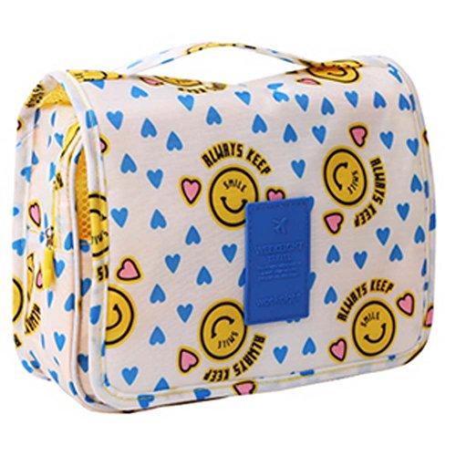 Yellow Cartoon Smiling Face Cosmetic sac de rangement sac pliable