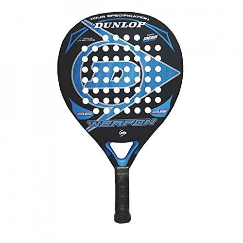 Dunlop Weapon - Pala de pádel, color negro / azul, 38 mm