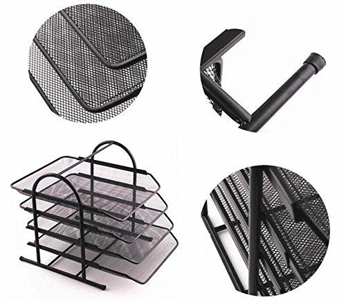 HETAO Büro liefert vier-Tier-Palette Finishing-Rahmen Metall Eisen Mesh A4 Datei Sitz Pumpen DatenrahmenEinfach und stilvoll