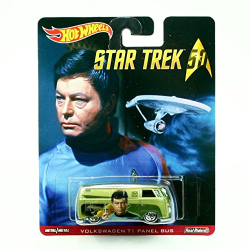 VOLKSWAGEN T1 PANEL BUS * Star Trek / LtCdr. Leonard Bones McCoy * Hot Wheels 2015 Pop Culture Star Trek 50th Anniversary Series Die-Cast Vehicle (Volkswagen T1 Panel-bus)