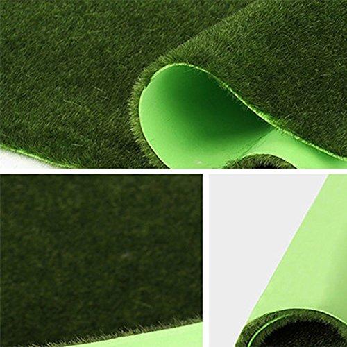 CAIJUN tappeti Prato, verde parete piante verde muschio, erba sintetica vetrina scena verde muschio finto scendiletto (dimensioni : D-100*100cm)