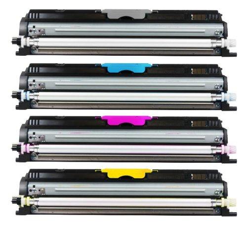 Preisvergleich Produktbild 4er SET High Quality Eurotone Toner Cartridge kompatibel zu OKI C110 C130 C130N MC160N - C-110 C-130 N C-130N MC-160 N - alle Farben - Black Cyan Magenta Yellow