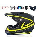 NNFK Motorrad-Crosshelm für Damen, Motocross-Helm-Set (4-teilig) mit Schutzbrillen-Handschuhmaske,...