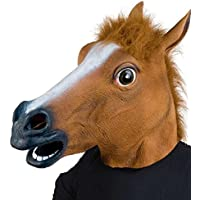 THEE Máscara de Caballo Disfraces de Fiesta