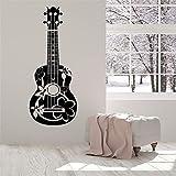 kyprx Applique Murale en Vinyle Guitare Acoustique Guitariste Musicien Affiche Amovible Home Art Design décoration Rouge 42x111cm
