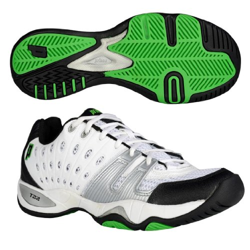 Prince T22 Mens Tennis Shoes White/Silver
