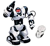Playtech Logic TT313 RoboActor Interactive Programmable RC Intelligent Walking Running Robot 67 Pre-Programmed Functions-Humanoid Robosapien with Attitude-Infrared Remote Controlled, Black