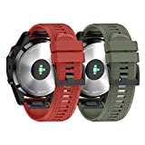 NotoCity Silikon Armband Kompatibel mit Garmin Fenix 5/ Fenix 5 Plus/Instinct/Forerunner 935/ Approach S60/ Quatix 5 Easy Fit 22mm Uhrenarmband Unisex