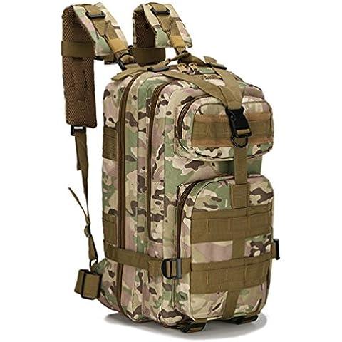HMILYDYK ejército patrulla táctica mochila Molle 3P Militar bolsa de deporte para Camping senderismo trekking impermeable 25L,