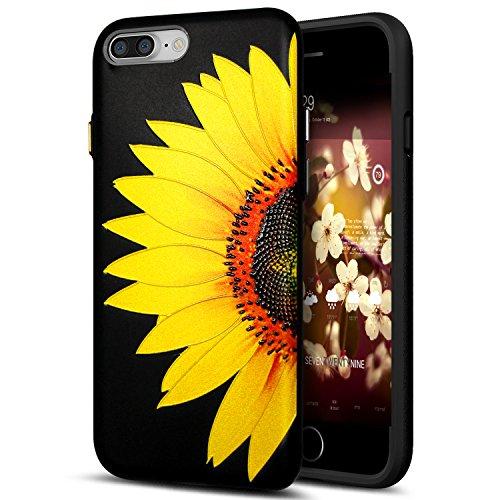 Cover iPhone 8 Plus,Cover iPhone 7 Plus,Custodia iPhone 8 Plus / iPhone 7 Plus Cover,ikasus® Cover custodia iPhone 8 Plus / iPhone 7 Plus disegno colorato TPU con 3d arte pittura floreale fiore fiori  Fiore #1