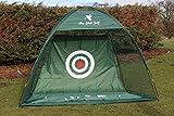 Red de práctica de golf profesional con hojas de tamaño completo meta para...