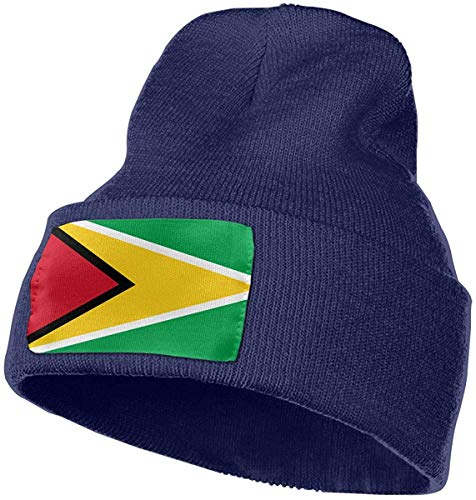 Voxpkrs Guyana Flag Women and Men Skull Caps Winter Warm Stretchy Knit Beanie Hats -