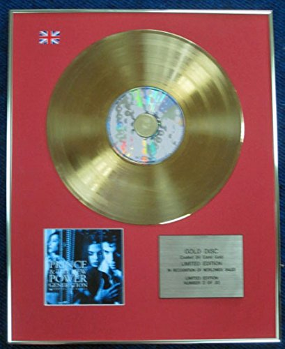 Prince & New Power Generation CD 24 Karat Gold Beschichtete LP Disc Diamanten und Perlen