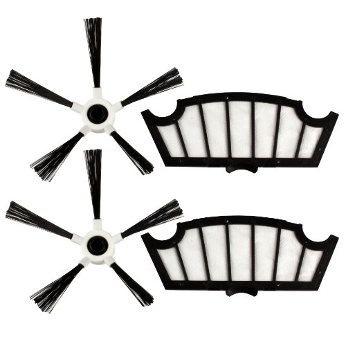 Menalux MRK 04 - Filtros y cepillos laterales para robot aspirador Hoover