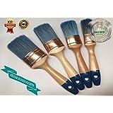 #PRO4 - Juego de OF 4 - tizas y pinturas con base de agua diseño OVAL 4 pinceles brocha mix brochas de la precisión