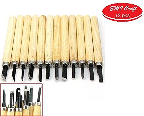 Holz Schnitzmesser, Schnitzmesser Schnitzwerkzeug Meißel Holzschnitzerei Messer 12 stück