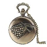 Reloj de cuarzo de bolsillo estilo retrovintage tipo bronce cepillado antiguo...