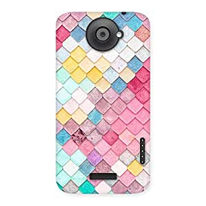 Delighted Colorfull Rocks Multicolor Back Case Cover for HTC One X