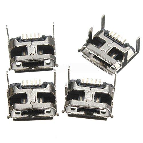 TOOGOO(R) 10 Stueck Typ B Micro USB weiblich 5 Pin Buchse Anschluss Steckverbinder Reparatur Teile (Usb Typ B Weiblich)