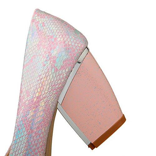 Donna Pattini Chiaro Flessibile Rilevato Voguezone009 Rosa Materiale Colore Solido Tallone Ha Di TO4wwg