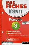 Mes Fiches ABC du BREVET Français 3e