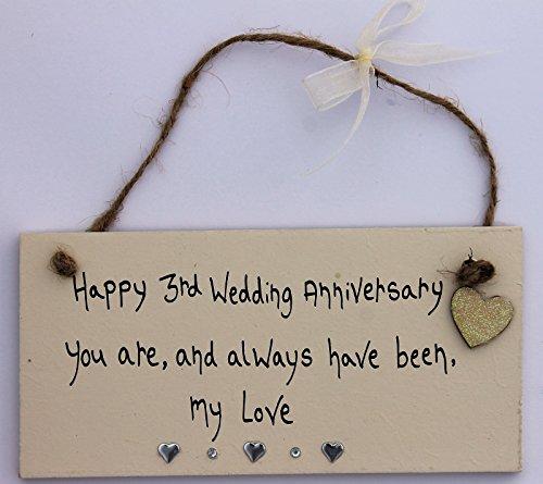 3. Hochzeitstag Geschenk Plaque personalisierbar Mummy Daddy Frau Mann