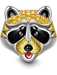 NinaQueen - Little Raccoon - Charm pour femme argent 925 (Bonne série Family)