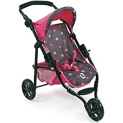 Bayer Chic 2000 61282Jogging de Buggy Lola, muñeca carro, estrellas rosa