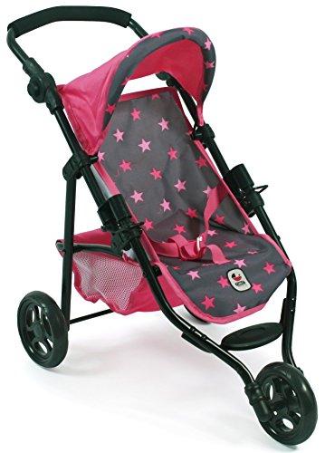 Bayer Chic 2000 612 82 Jogging-Buggy Lola, Puppenwagen, Sternchen pink