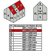 Jawoll Hohlkammerplatte für Gewächshaus Gartenhaus Treibhaus (Nr. 2 (605 x 1130 mm))