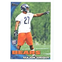 2010 Topps NFL Football Card # 46 Major Wright RC - Chicago Bears ( Rookie Card) NFL Trading Card