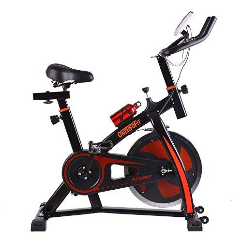 ONETWOFIT Bicicleta de Ejercicios Indoor Ciclismo Spinning Bike Inicio Gym Entrenamiento Cardio Training OT018R