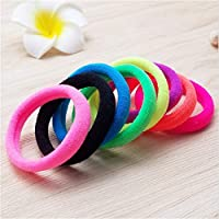 YSINFOD Colorful Rubber Band High Elastic Ponytail Holders Fluorescent Color Rubber Band Set Soft Hair Ties Hairbands for Girls Ladies
