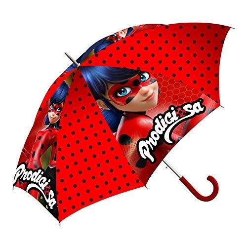 GUIZMAX Paraguas Disney Milagrosa Ladybug Niña