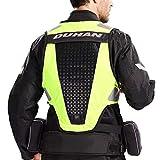 LLC-CLAYMORE Gilet de Protection de Moto, Moto système de Protection Gear Jacket avec Bande réfléchissante, Motocross Racing Ski Skating Body Armor Gilet