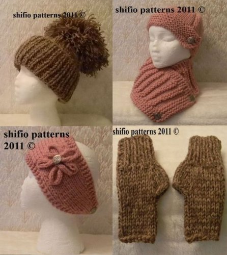 Strickanleitung  – KP197- Mütze, Schal, Handschuhe und Stirnband für Erwachsene
