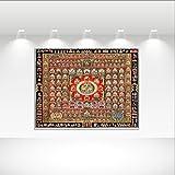 MIAO Tapisserie Dekoration Indische Mandala Dekorative Zimmer Bohemia Hippie Tapisserie Dekorative Stoff Betttuch Strandtuch Polyester (Farbe : A, größe : 150x130cm)