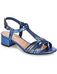 bdde4300d88 betty london METISSA Sandales et Nu-Pieds Femmes Bleu Sandales et Nu-Pieds