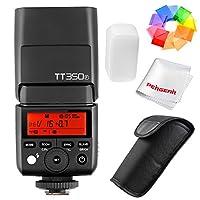 Godox TT350°F 2,4G HSS 1/8000s Flash TTL GN36kamera Speedlite Fuji kamerası için X-PRO2X-T20X-T2X-T1X-Pro1X-T10E1X-A3X100°F X100T renk filtresi ve Pergear temizlik bezi