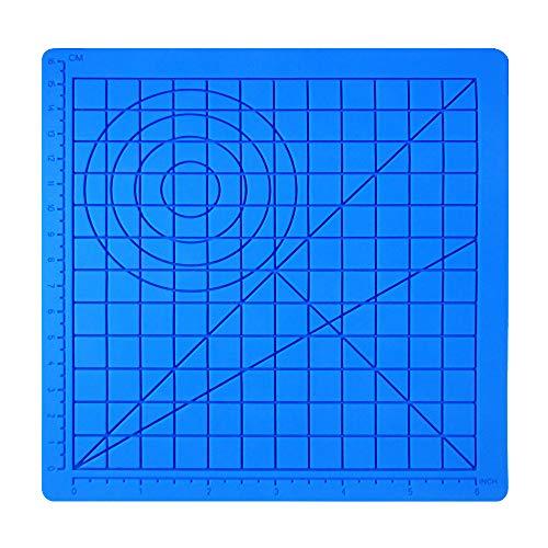 Estera de silicona para impresión 3D Dibujo impresora Pluma, Plantilla de dibujo con multiformato básico Herramientas de dibujo del arte del arte, Accesorio de dibujo 3D perfecto para niños adultos