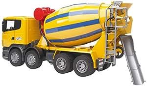 BRUDER - 03554 - Camion toupie à béton SCANIA R-serie - Jaune