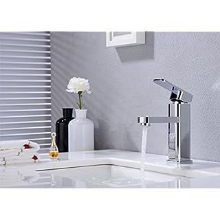 Wash Basin Tap Bathroom Basin Tap Bath Tap with Drain Fitting Brass Chrome Brass