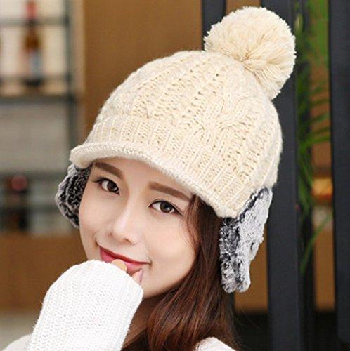 Chapeau Femme Hiver Tricotage Automne Et Hiver Plus Velours Hedging Garder Chaud Tab Baotou Student Loisirs ( couleur : 5# ) # 3