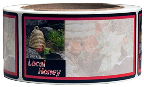 Mann Lake 250 Count Garden Skep Local Honey Label, 2 by 4-Inch 1