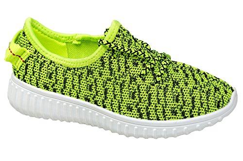 gibra, Sneaker bambini Verde (Verde fluo)